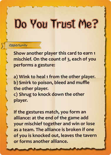 Preview of Do You Trust Me card.